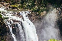 Quedas de Snoqualmine - Seattle Washington imagem de stock