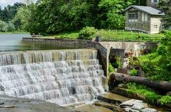 Quedas de Triphammer, Ithaca, New York fotografia de stock