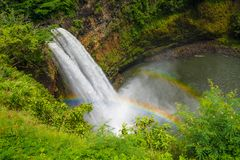 Quedas de Wailua Cachoeira na ilha de Kauai, Havaí Imagem de Stock Royalty Free