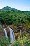 Quedas de Wailua, Kauai Imagens de Stock