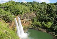 Quedas de Wailua, Kauai, Havaí Fotografia de Stock Royalty Free