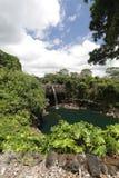 Quedas do arco-íris de Havaí Fotografia de Stock