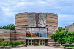 Quedas do centro interpretativo de Ohio Imagens de Stock Royalty Free