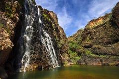 Quedas do gêmeo, parque nacional de Kakadu fotos de stock royalty free