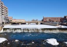 Quedas do inverno Fotografia de Stock Royalty Free