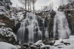 Quedas do inverno Fotografia de Stock