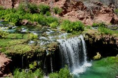 Quedas do Navajo - garganta grande Fotografia de Stock