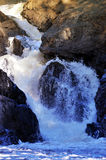 Quedas do rio da mulher Fotos de Stock Royalty Free