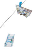 Quedas do rublo Imagem de Stock