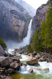 Quedas do vale de Yosemite Foto de Stock
