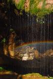 Quedas e arco-íris imagem de stock