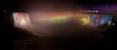 Quedas em ferradura, Niagara na noite Foto de Stock