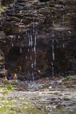 Quedas eternos da chama, New York, do norte do estado, NY, EUA, curso, cachoeira original, fundo, papel de parede imagem de stock royalty free
