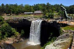 Quedas famosas de Noccalula de Alabama Fotos de Stock Royalty Free