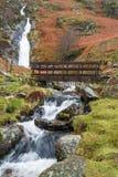 Quedas Gales norte de Rhaeadr Bach Imagem de Stock