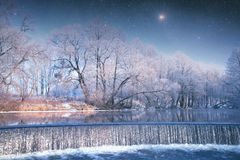Quedas no inverno Fotografia de Stock