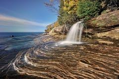 Quedas pequenas dos mineiros, superior de lago Michigan Imagem de Stock Royalty Free