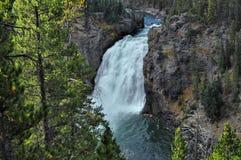 Quedas superiores de Yellowstone imagem de stock