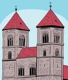 Quedlinbourg Abbey Under Blue Sky Image libre de droits
