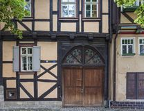 Quedlinburg, halve timbered house Royalty Free Stock Photos
