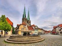 Quedlinburg-Brunnen Stockbilder