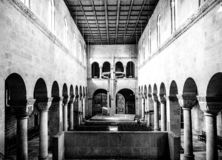 Quedlinburg church in black and white royalty free stock photography