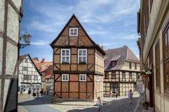 Quedlinburg Duitsland, Unesco-de Plaats van de Werelderfenis Stock Foto's