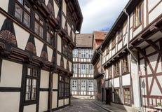 Quedlinburg Duitsland, Unesco-de Plaats van de Werelderfenis Stock Fotografie