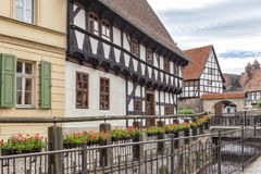 Quedlinburg/Germany halve timbered houses Stock Photos