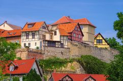 Quedlinburg Muenzenberg Immagine Stock