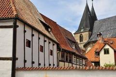 Quedlinburg Sachsen Anhalt, Tyskland Royaltyfria Bilder