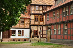 Quedlinburg Sachsen Anhalt, Tyskland Royaltyfri Bild