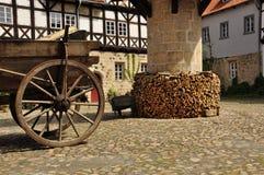 Quedlinburg Sachsen Anhalt, Tyskland Arkivbilder