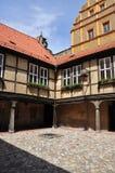 Quedlinburg Sachsen Anhalt, Tyskland Småstadborggård Royaltyfri Foto