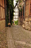 Quedlinburg, Saxony Anhalt, Germany. The Unesco listed historic village of Quedlinburg, Saxony Anhalt, Germany. Old half timbered houses in the town centre Royalty Free Stock Photo