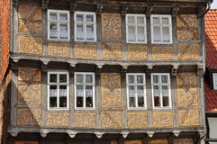 Quedlinburg, Saxony Anhalt, Germany. The Unesco listed historic village of Quedlinburg, Saxony Anhalt, Germany. Old half timbered houses in the town centre Stock Photo