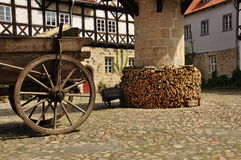 Quedlinburg, Saxony Anhalt, Germany. The Unesco listed historic village of Quedlinburg, Saxony Anhalt, Germany. Old half timbered houses in the town centre Stock Images