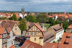 Quedlinburg Saxony-Anhalt Germany. View on the Quedlinburg town near the Harz mountains. Saxony-Anhalt, Germany Stock Images