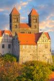 Quedlinburg Schlosskomplex; Quedlinburg, Deutschland Lizenzfreies Stockfoto