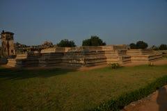 Basement of Queen's Palace at the Zenana Enclosure, Hampi, Karnataka, India Stock Photos