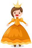 Queen. Illustration of isolate cartoon queen  on white background Stock Photo