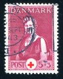 Queen Alexandrine. DENMARK - CIRCA 1943: stamp printed by Denmark, shows Queen Alexandrine, circa 1943 Royalty Free Stock Photos