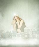 Queen of amsterdam metaphor Stock Image