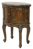 Queen Anne Accent End Table. In Distressed Dark Finish Royalty Free Stock Images