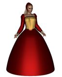 Queen Anne Boleyn. Wife of the Tudor King Henry the Eighth of England, 3d digitally rendered illustration Royalty Free Stock Photo