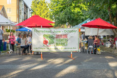 Queen Anne Farmers Market sign Royalty Free Stock Photography