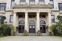 Queen Anne High School in Seattle Royalty Free Stock Image