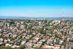 Queen Anne Hill neighborhood in Seattle, WA Stock Image