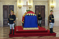 Queen Anne of Romania at the Royal Palace in Bucharest Stock Images