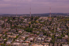 Queen Anne in Seattle. View of the Queen Anne neighborhood in Seattle Stock Photo